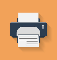 Icon of printer flat style vector