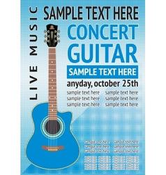 Concert guitar vector