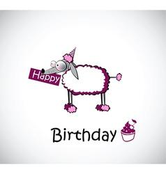 Happy birthday card poodle vector