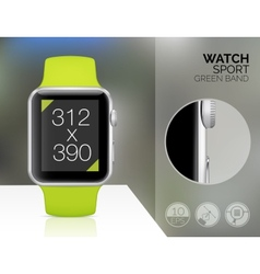 Smart watch isolated vector