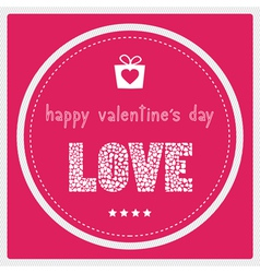 Happy valentine s day card1 vector