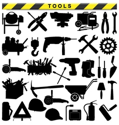 Tool pictograms vector
