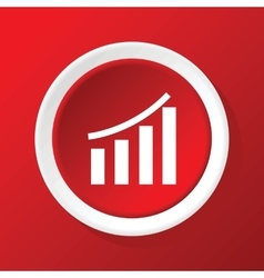 Financial graphic icon on red vector