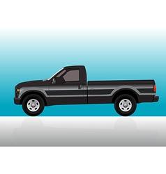 Pick-up truck black vector