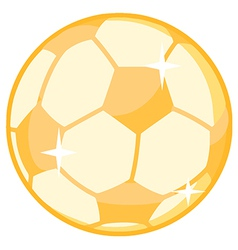 Gold soccer ball vector