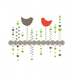 Ound with birds vector illustration vector