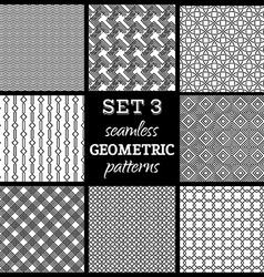 Set of boundles geometric patterns vector