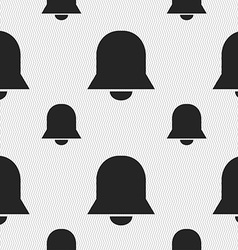 Alarm bell icon sign seamless pattern with vector