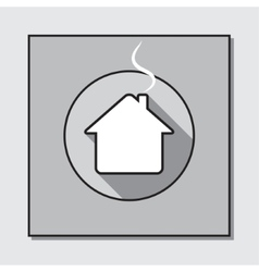 Circle icon on a square base - house vector