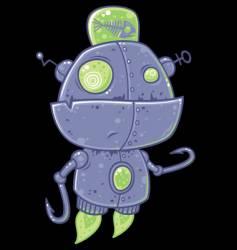 Fishing robot character vector