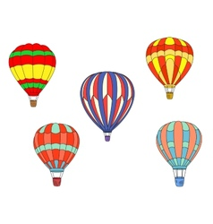 Colorful air balloons vector