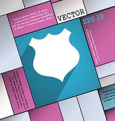 Shield icon symbol flat modern web design with vector