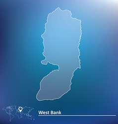 Map of west bank vector