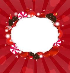 Dessert frame vector