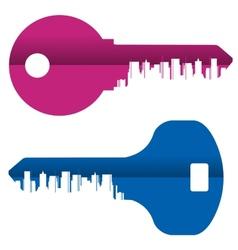 Key logo design template city or vector