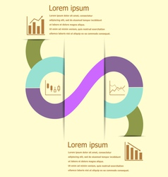 Stock and finance infographic design vector