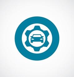 Auto service icon bold blue circle border vector