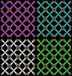 Set seamless patterns vector