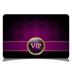 Purple vip card vector