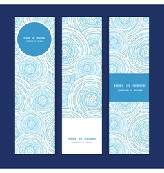 Doodle circle water texture vertical banners set vector