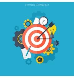 Target flat icon development concept new ideas vector