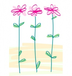 Styled flowers vector