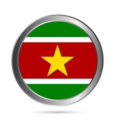 Suriname flag button vector