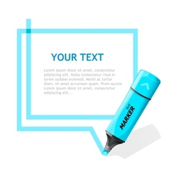 Marker text box vector