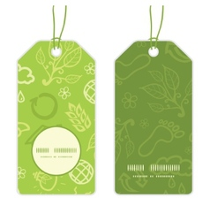 Environmental vertical round frame pattern tags vector