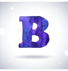 Watercolor letter b vector