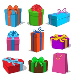 Present boxes collection vector