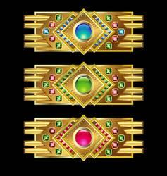 Jewel icon bars vector
