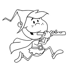 Pied piper costume cartoon vector