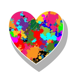 Colorful heart vector