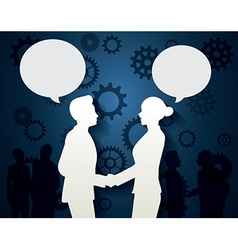 Man and woman with dialog speech vector