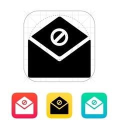 Spam mail icon vector