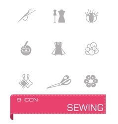 Sewing icon set vector