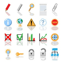 Textbook icons for print vector
