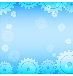 Abstract blue gear technology background vector