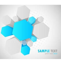 Background with 3d hexagon vector