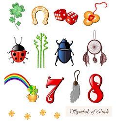 Set of lucky symbols vector