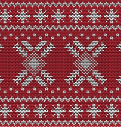 Christmas sweater design seamless pattern vector