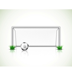 Soccer goal and ball vector