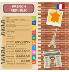 France infographics statistical data sights vector