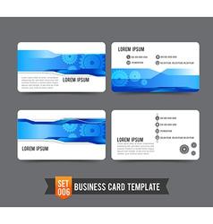 Business card template set 006 gear technology vector