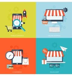 Internet shopping concept e-commerce online vector