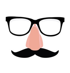 Disguise glasses nose and mustache vector