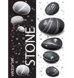 Black and white stones vector