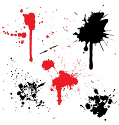 Splats and drips vector