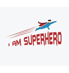 Superhero in his uniform flying forward vector